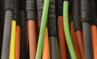 Fiber optic cables are seen at a data center in Manhattan, March 2013