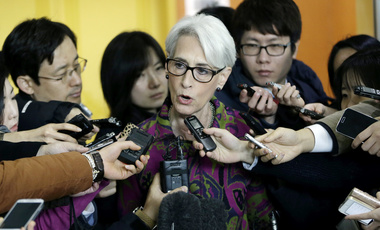 U.S. Undersecretary of State for Political Affairs Wendy Sherman speaks to reporters after a meeting with South Korean Foreign Minister on January 29, 2015. (AP Photo/Ahn Young-joon)