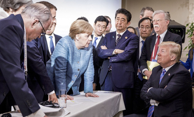 Angela Merkel and Donald Trump the G7 Leaders Summit