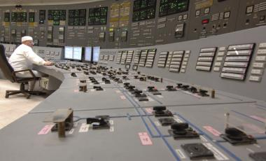 A power-generating unit control panel at Kursk Nuclear Power Plant in Kurchatov, Russia, in 2008.