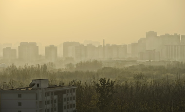 Skyline and air pollution in Beijing, China