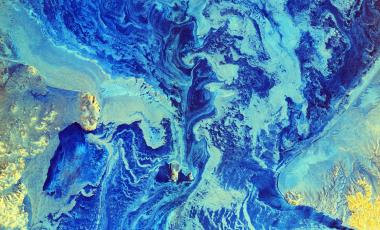 Bering Strait from space