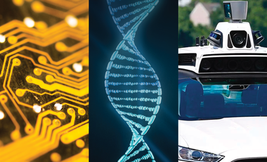 A computer chip, a DNA strand, and a self-driving vehicle