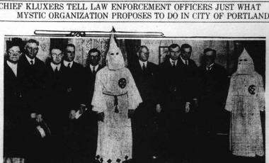 KKK meeting with Portland leaders