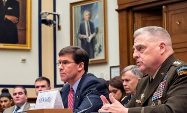 U.S. Defense Secretary Mark Esper and Chairman of the Joint Chiefs of Staff Mark A. Milley