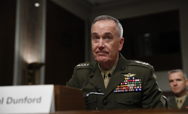 Gen. Joseph Dunford prepares to testify on Capitol Hill