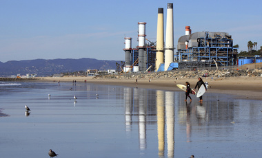 El Segundo Power Plant and beach