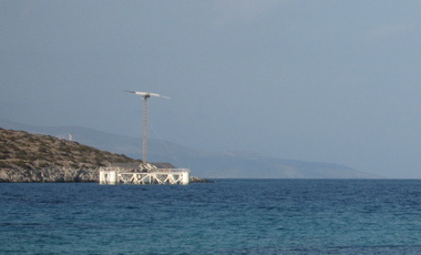 "Floating desalination unit ""Hydriada"" powered by wind and solar energy"
