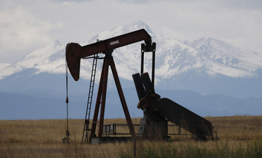 A pump jack works off state highway 119 near Firestone, Colorado, May 27, 2016.