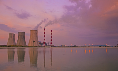 Cooling towers of Haryana Thermal Power Plant, India