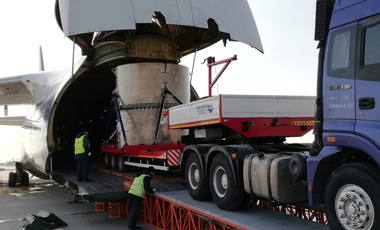 Nigeria's Miniature Neutron Source Reactor was the last operational research reactor in Africa to make the conversion from HEU to LEU. Here, the HEU once used in the reactor is loaded for shipment back to China, the supplier (IAEA).