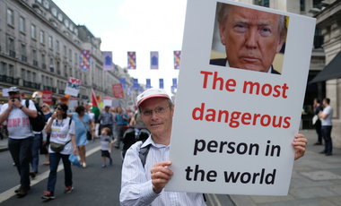 Protest against the presidency of Donald Trump in London