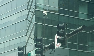 Outdoor traffic light surveillance camera