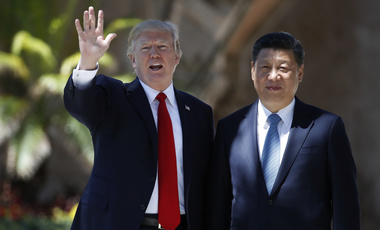 Donald Trump and Xi Jinping at Mar-a-Lago, Florida