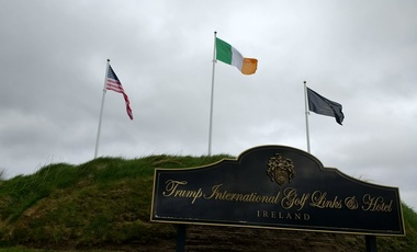 The entrance to the Trump International Golf Links and Hotel in Doonbeg, Ireland