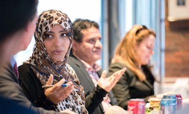 Tawakkol Karman, Future of Diplomacy Project Fisher Family Fellow, speaks on human rights at Harvard University