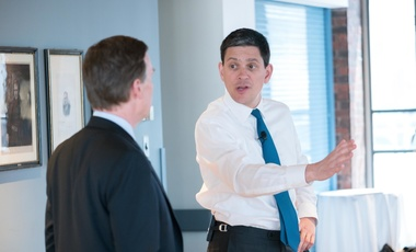 David Miliband and Nicholas Burns