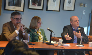 René Castro Salazar, Paula Dobriansky, and Daniel Schrag discuss the UN Climate Change Conference, November 9, 2015.