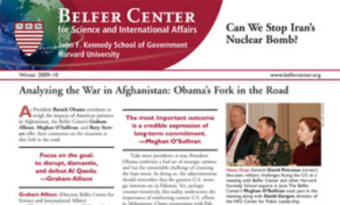 Belfer Center Newsletter Winter 2009-10