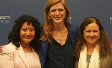 Amb. Samantha Power with Former Guatemalan Attorney General Claudia Paz y Paz and Judge Yassmín Barrios