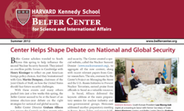 Belfer Center Newsletter Summer 2012