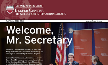 Fall/Winter 2015-2016 Belfer Center Newsletter