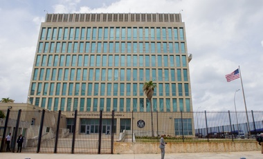 U.S. Flag Flaps Outside U.S. Embassy in Havana, Cuba