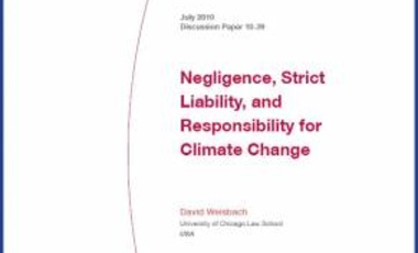 Negligence, Strict Liability, and Responsibility for Climate Change