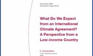 What Do We Expect from an International Climate Agreement? A Perspective from a Low-income Country