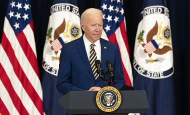 President Joseph R. Biden, Jr. delivers remarks at the State Department