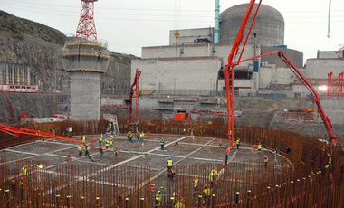 The construction site at Finland's Olkiluoto 3 reactor