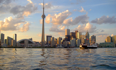 View of the Toronto skyline from Toronto Harbour