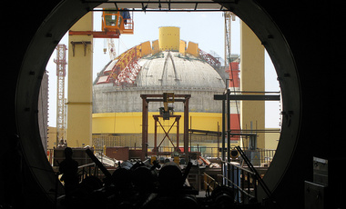 The Prototype Fast Breeder Reactor at the Kalpakkam Nuclear Complex, India.