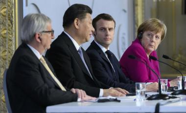 East Meets West: Xi, Macron, and Merkel in Paris, March 2019