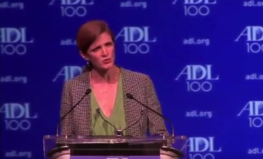 Amb. Samantha Power at the Anti-Defamation League's National Commission Centennial Meeting