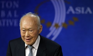 Former Singapore Prime Minister Lee Kuan Yew attends the Clinton Global Initiative Asia Meeting in Hong Kong Tuesday, Dec 2, 2008.