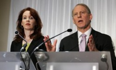 Dr. Richard Haass and Professor Meghan O'Sullivan inter-party talks, Belfast, Northern Ireland, Britain - 31 Dec 2013