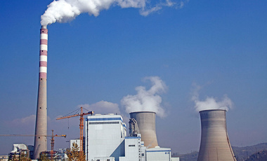 A coal-fired power plant in Baishan city, northeast China's Jilin province, 6 October 2014