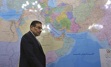 Secretary of Iran's Supreme National Security Council, Ali Shamkhani, arrives for a meeting at his office in Tehran, Iran. (AP Photo/Vahid Salemi)