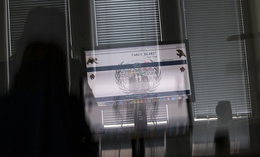 "A screenshot of website of so-called ""Russian cyber espionage group"" Fancy Bears is seen on a computer screen in Moscow, Sept. 14, 2016."