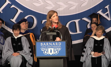 Amb. Samantha Power at the Barnard College Commencement