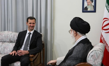 Syrian President Bashar al-Assad meeting with Iran's Supreme Leader Ali Khamenei