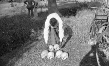 Skulls at site of executions ordered by Pakistan military officials, Bangladesh, December 13, 1971.