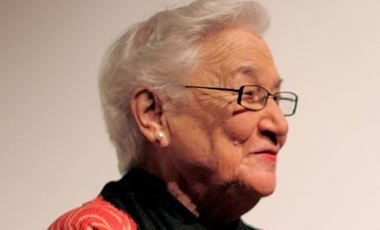 "Beate Sirota Gordon following a 2011 screening of ""The Sirota Family and the 20th Century,"" November 2011."