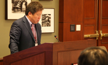 Global Solutions: Professor Cao Jianlin, vice minister of China's Ministry of China and Technology, presents the opening remarks at the joint U.S.-China workshop.