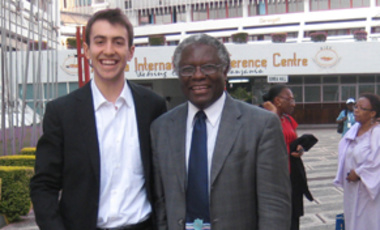 Agricultural Acumen: Calestous Juma (right), and Greg Durham in Tanzania.