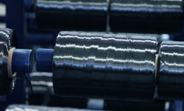 Spools of carbon fiber, a material with both nuclear and non-nuclear uses.