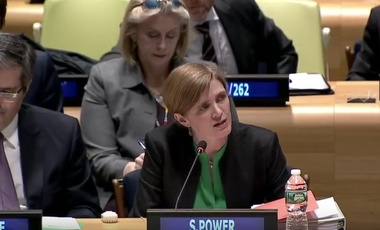 Amb. Samantha Power at an Event on the Second Anniversary of the Adoption of the UN General Assembly Resolution