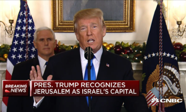Donald Trump recognizes Jerusalem as capital of Israel