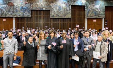 Amb. Samantha Power at the Eastern District of New York naturalization ceremony.